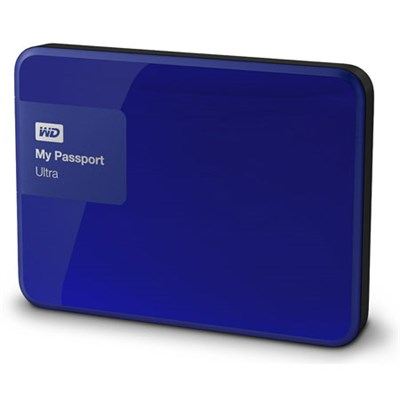 My Passport Ultra 1 TB Portable External Hard Drive, Blue - OPEN BOX