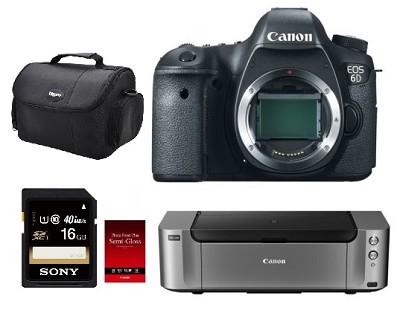 EOS 6D 20.2 MP Full Frame SLR Camera (Body Only) - Kit Deal