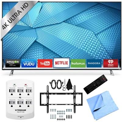 M60-C3 - 60-Inch 240Hz 4K Ultra HD Smart LED HDTV Flat & Tilt Wall Mount Bundle