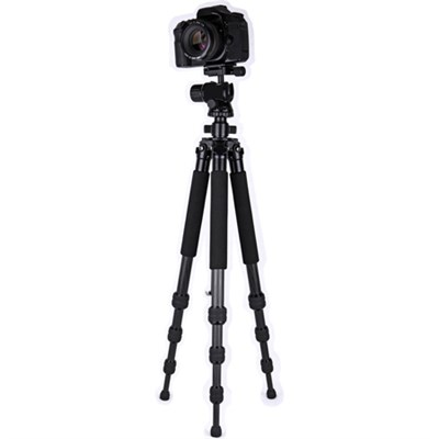 60` Professional Carbon Fiber Tripod with balanced Ball Head - OPEN BOX