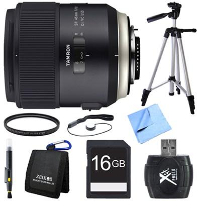 SP 45mm f/1.8 Di VC USD Lens for Nikon Mount Bundle