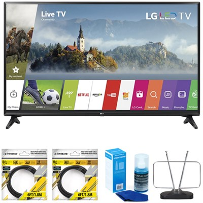 55-inch Full HD Smart TV 2017 Model 55LJ5500 with Cleaning Bundle