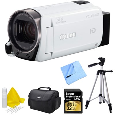 VIXIA HF R700 Full HD Black Camcorder Deluxe Bundle - White