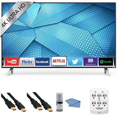 M65-C1 - 65-Inch 240Hz 4K Ultra HD M-Series LED Smart HDTV + Hookup Kit