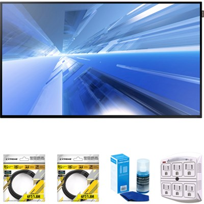 Dm-E Series 55` Slim Direct-Lit LED Commercial Display + Cleaning Kit