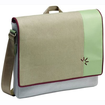 UCS-15 - 15.4-Inch Felt Messenger Bag with Laptop Storage (Gray/Purple)