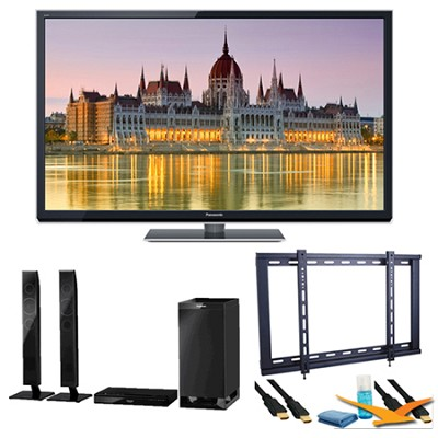 65` TC-P65ST50 VIERA 3D HD (1080p) Plasma TV with Built-in Wifi Speaker Bundle