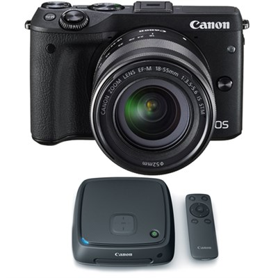 EOS M3 Digital Camera w/ EF-M 18-55mm Lens + 1TB CS100 Connect Station Hub