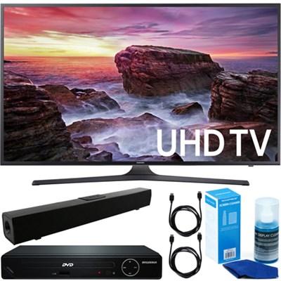 Flat 40` LED 4K UHD 6 Series Smart TV + DVD Player + Bluetooth Sound Bar