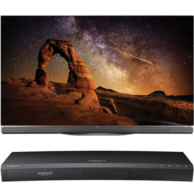 55` OLED55E6P E6 OLED 4K HDR Smart TV w/ UBD-K8500 3D 4K Ultra HD Blu-ray Player