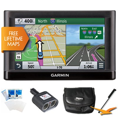 nuvi 66LM GPS Nav with Lifetime Maps 6` Display Essentials Bundle