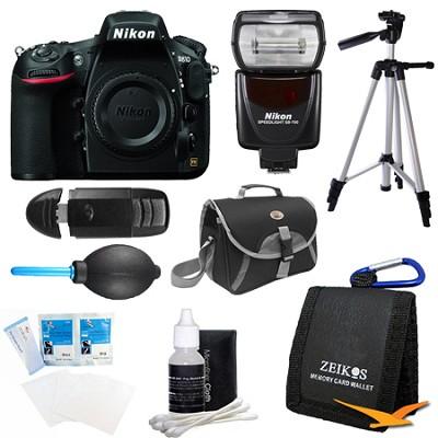 D810 36.3MP 1080p HD DSLR Camera Body with SB-700 Speedlight Flash Bundle