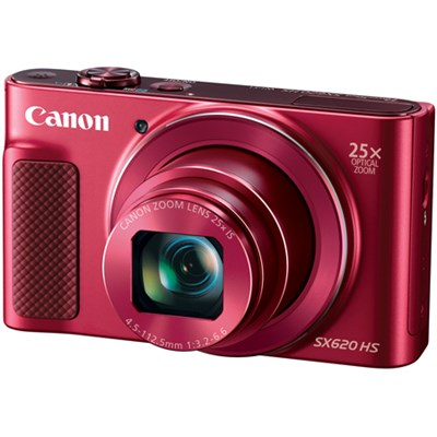 PowerShot SX620 HS 20.2MP Digital Camera, 25x Optical Zoom & Wi-Fi - Red