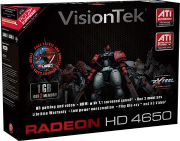 RADEON 4650 PCIE 1GB HDMI/DVI SFF DDR2 B2 RETAIL 350W/500W