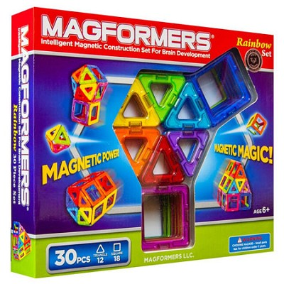 63076 Rainbow 30pc Magnetic Construction Set