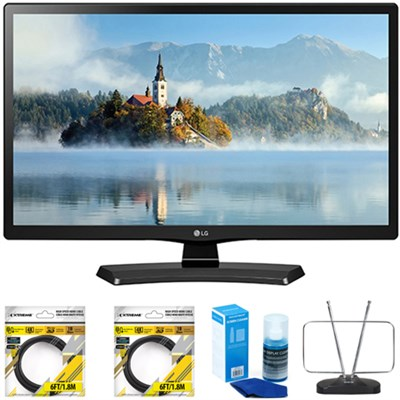 22` Class 21.5` Diag Full HD LED TV 2017 Model 22LJ4540 with Cleaning Bundle