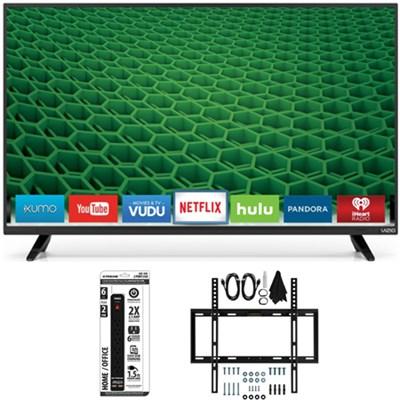 D32h-D1 - D-Series 32-Inch Full-Array LED Smart TV Slim Flat Wall Mount Bundle