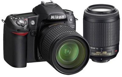 D80 Digital SLR Camera w/ 18-55 VR & 55-200 VR Lenses