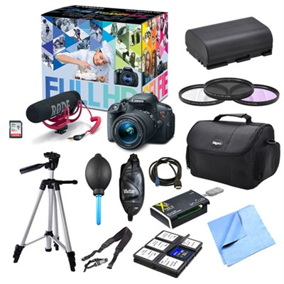 EOS 70D and Lens Video Creator, Filters, and Battery Bundle