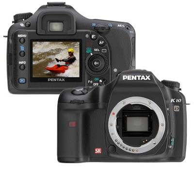 K10D 10MP Digital SLR Body (lens not included)