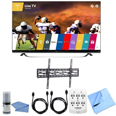 65UF8500 - 65-Inch 2160p 240Hz 3D 4K LED UHD WebOS Smart TV Tilting Mount Bundle
