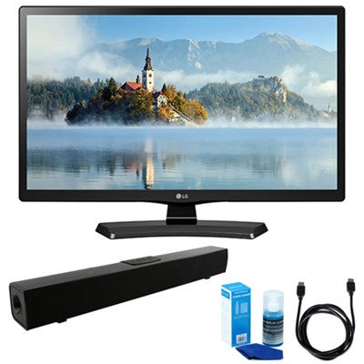 28-Inch 720p HD LED TV (2017 Model) w/ Bluetooth Sound Bar Bundle