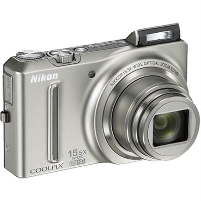COOLPIX S9050 12.1MP Digital Camera with 15.5x Optical Zoom (Silver) Refurbished