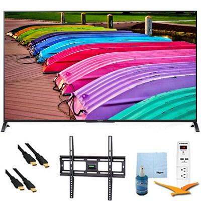 XBR55X850B - 55` 3D 4K UHD TV Motionflow XR 240 Smart TV Mount & Hook-Up Bundle