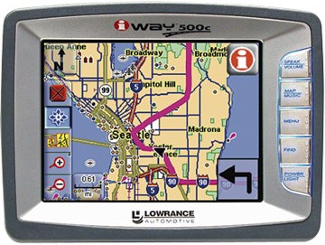 iWAY 500C Portable car GPS navigation w/ MP3 Playback