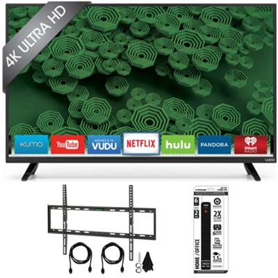 D65u-D2 65` Class Ultra HD 4K Full-Array LED Smart TV Flat Wall Mount Kit Bundle