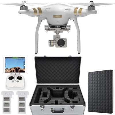 Phantom 3 Professional Quadcopter Drone 4K Camera w/ Gimbal + 1.5TB Hard Drive