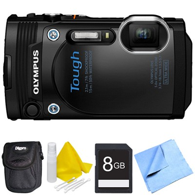 TG-860 Tough Waterproof 16MP Digital Camera with 3-Inch LCD - Black Bundle