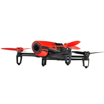 BeBop Drone 14 MP Full HD 1080p Fisheye Camera Quadcopter (Red) - OPEN BOX