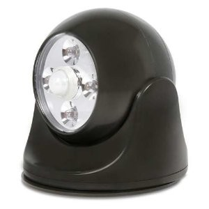 40242 Battery-Powered Motion-Activated LED Anywhere Light, Dark Bronze
