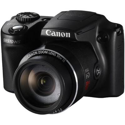 PowerShot SX510 HS 12.1 MP Digital Camera - Black - OPEN BOX