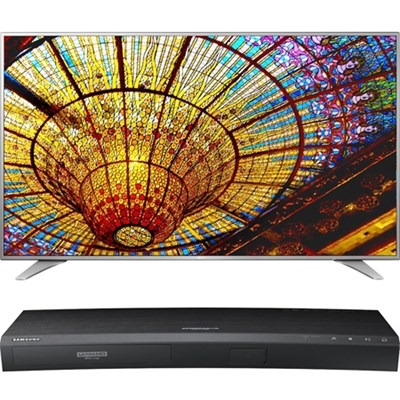55-Inch UHD Smart TV w/ webOS 3.0-55UH6550 w/UBD-K8500 4K UHD Blu-Ray Player