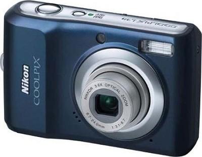 COOLPIX L20 10MP Digital Camera (Navy Blue)