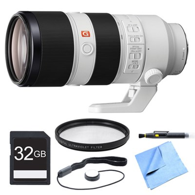 FE 70-200mm F2.8GM OSS E-Mount Lens, Filter, and Card Bundle