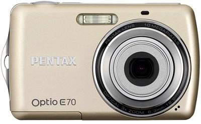 Optio E70 10MP 2.4` LCD Digital Camera (Champagne Gold)