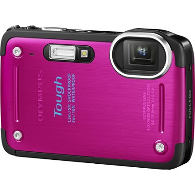 STYLUS TOUGH TG-620 3-inch LCD 1080p HD Digital Camera - Pink