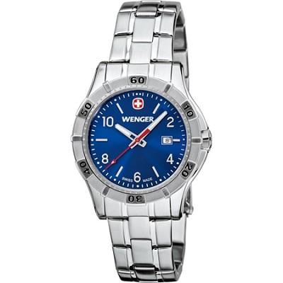 Ladies' Platoon Analog Watch - Blue Dial/Stainless Steel Bracelet