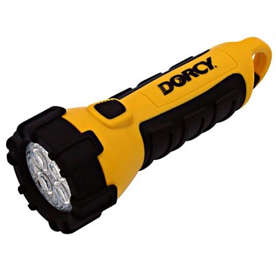 Floating Waterproof LED Flashlight with Carabineer Clip, 55-Lumens, Yellow