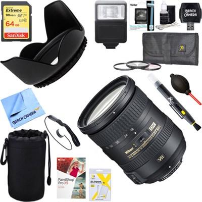AF-S DX NIKKOR 18-200mm f/3.5-5.6G ED VR II Lens + 64GB Ultimate Kit