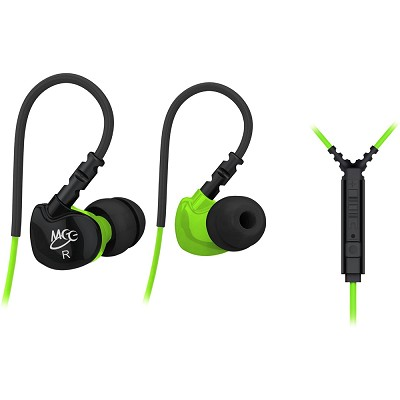 S6P Noise Isolating In-Ear Earphone w/ Microphone/Remote/Volume Control (Green)