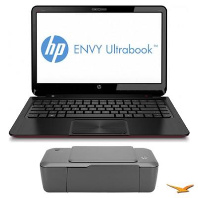ENVY 14.0` 4-1117n Ultrabook PC and HP 1000 Printer Bundle