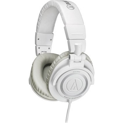 ATH-M50 Professional Closed-Back Studio Headphones with Coiled Cable (Ice White)
