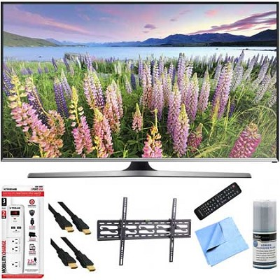 UN48J5500 - 48-Inch Full HD 1080p Smart TV Plus Tilt Mount Hook-Up Bundle