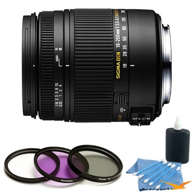 18-250mm F3.5-6.3 DC Macro OS HSM Lens for Canon EF Kit
