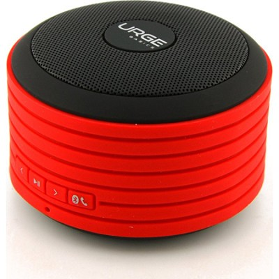 Bluetooth Disc Speaker with Built-In Mic (Red and Black)