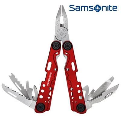 Premium Travel Deluxe 14-in-1 Stainless Steel Multi Tool in Red